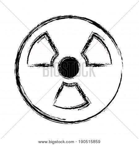 figure radiation symbol to dangerous and ecology contamination vector illustration
