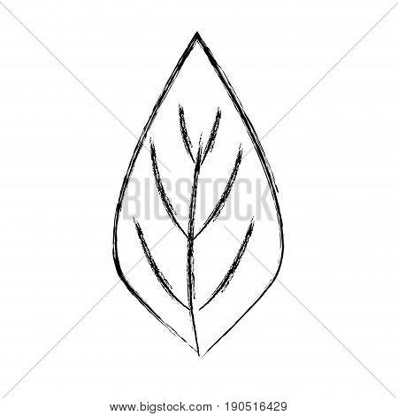 figure natural leaf to ecology preservation icon vector illustration