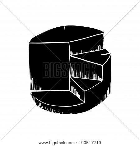 Graphic stats draw icon vector illustration graphic design