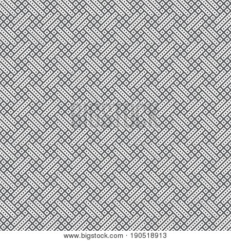 Vector seamless pattern. Modern continuously repeating geometrical texture with regular repetition strips rectangle shapes small rhombuses diamonds. Contemporary design