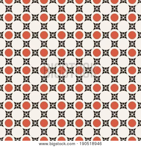 Vector seamless pattern. Infinitely repeating modern geometrical texture consisting of dots and rhombuses. Continuous ornament background. Contemporary design