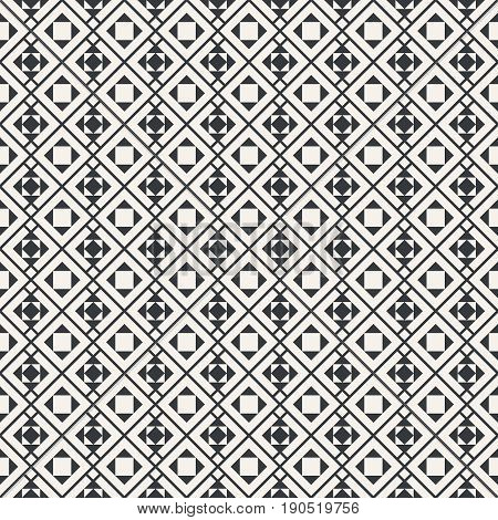 Seamless pattern. Geometrical modern texture. Regularly repeating classical tiles with rhombuses diamonds triangles squares. Vector element of graphical design
