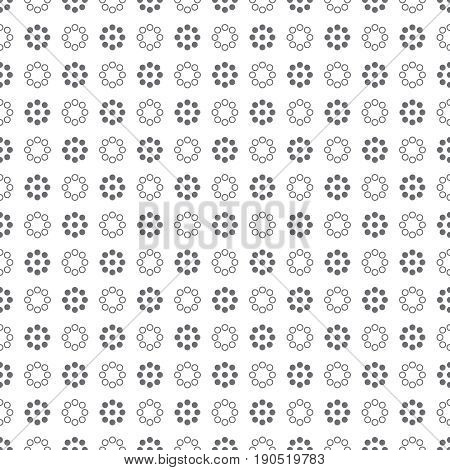Seamless pattern. Abstract wrapping digital paper. Modern minimal geometrical texture with regular repeatition of dotted circles. Contemporary design
