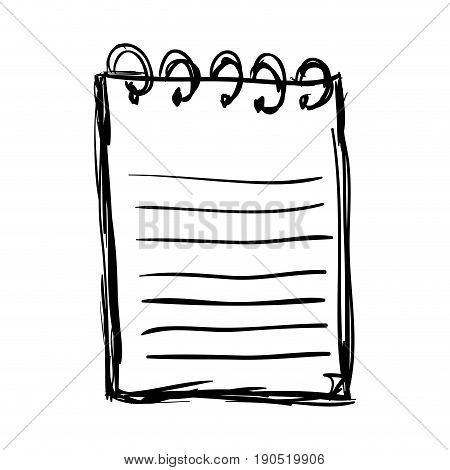 Paper note doodle draw icon vector illustration graphic design