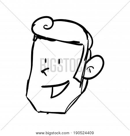 Guy face draw icon vector illustration graphic design