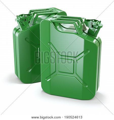 Two Green Jerry Cans