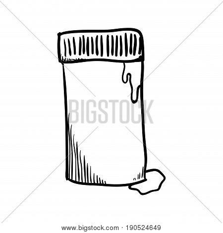 glue bottle draw icon vector illustration graphic design