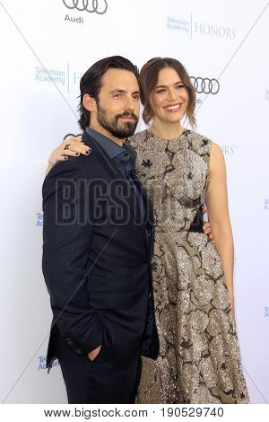 LOS ANGELES - JUN 8:  Milo Ventimiglia, Mandy Moore at the 10th Annual Television Academy Honors at the Montage Hotel on June 8, 2017 in Beverly Hills, CA