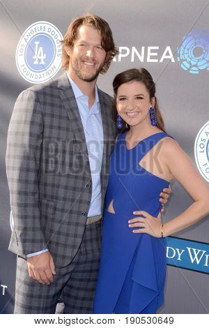 LOS ANGELES - JUN 8:  Clayton Kershaw, Ellen Kershaw at the Los Angeles Dodgers Foundations 3rd Annual Blue Diamond Gala at the Dodger Stadium on June 8, 2017 in Los Angeles, CA