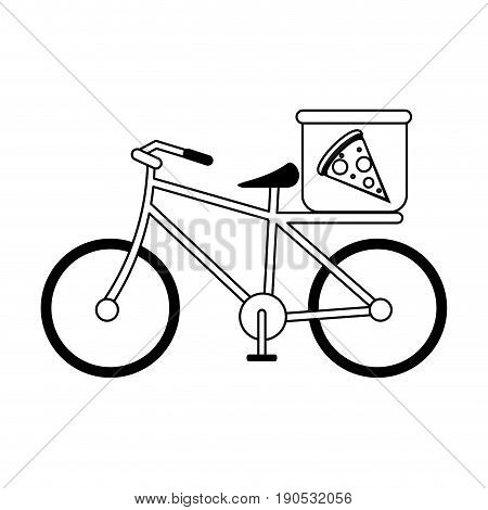 pizza bycicle silhouette illustration icon vector design graphic