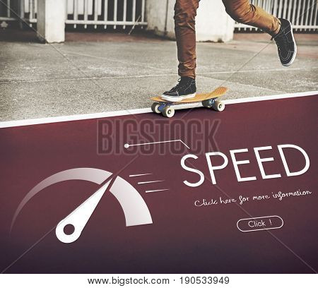 Speed Meter Extreme Scale Fast