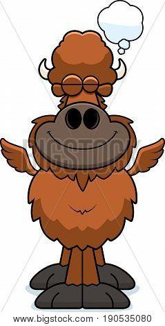 Cartoon Buffalo Wings Dreaming