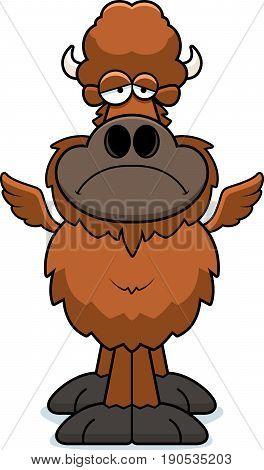 Sad Cartoon Buffalo Wings