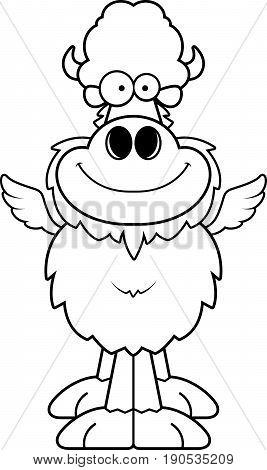Smiling Cartoon Buffalo Wings
