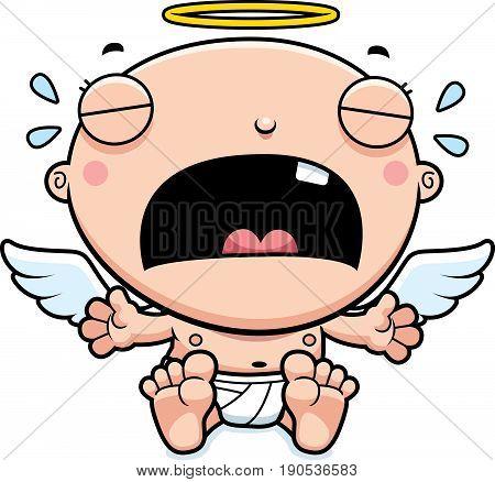 Cartoon Baby Angel Crying
