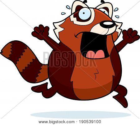 Cartoon Red Panda Panic