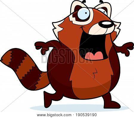 Cartoon Red Panda Walking