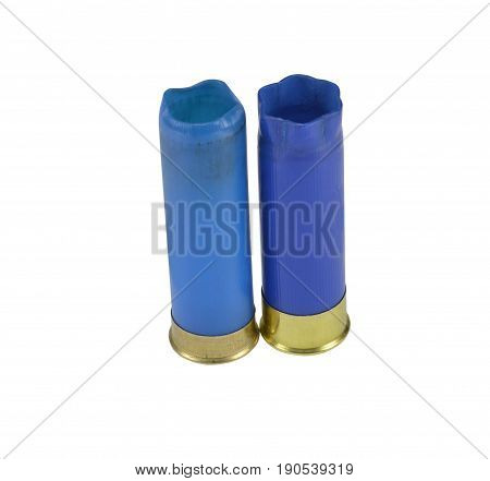 the shotgun shells on a white background