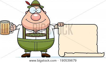 Cartoon Lederhosen Man Sign