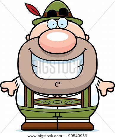 Cartoon Lederhosen Man Smile