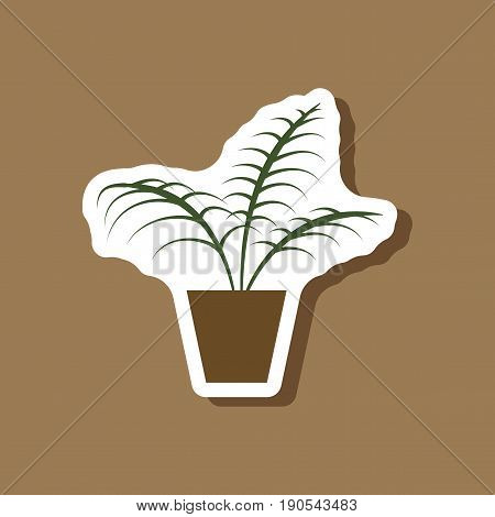 paper sticker on stylish background Ficus fashion