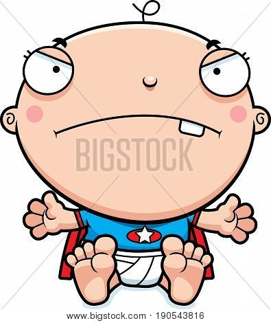 Cartoon Superhero Baby Mad