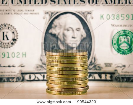 World financial crisis, hard currency dollar. Business background