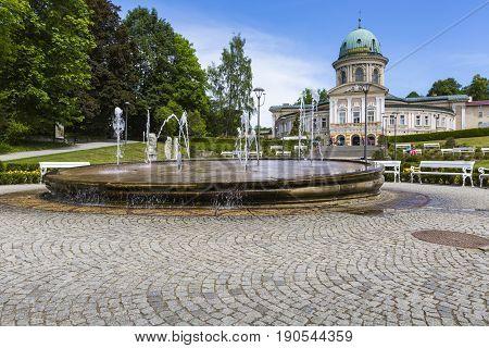 Ladek Zdroj, Poland - Juni 05, 2017: Ladek Zdroj Is A Town In Klodzko County, Lower Silesian Voivode