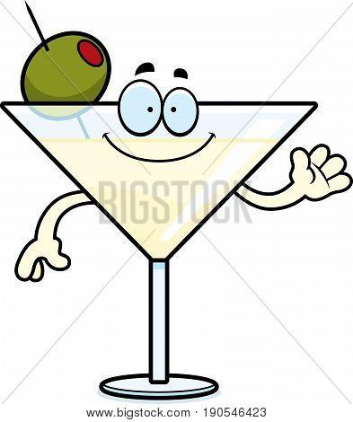 Cartoon Martini Waving