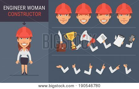 Constructor Character Engineer Woman