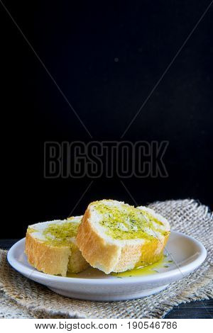 Bread Slies With Olive Oil And Spices