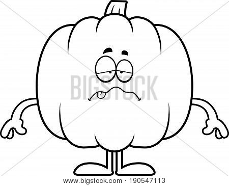 Sick Cartoon Pumpkin