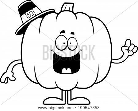 Cartoon Pumpkin Pilgrim Idea