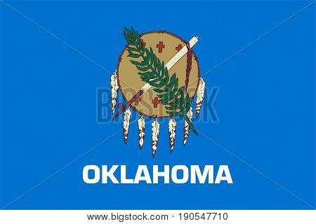 Illustration of the flag of Oklahoma state in America