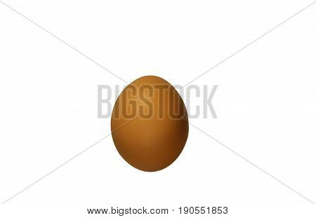 Chicken egg isolated on the white background