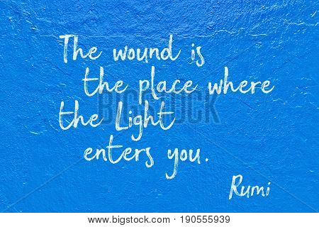 Light Enters Blue Rumi