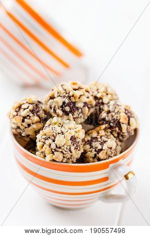 Homemade Hazelnut Candies In Cup