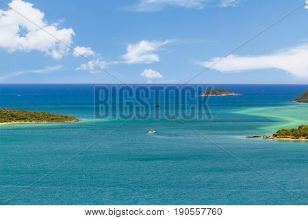 Tropical Island And Clear Turquoise Sea