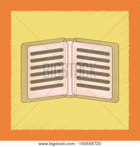 flat shading style icon of school notebook