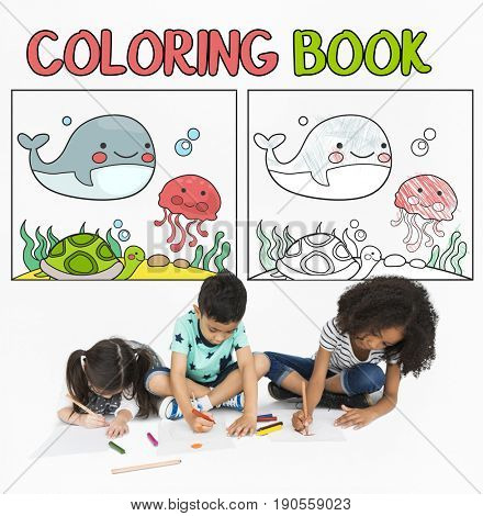Coloring Book Education Talent Concept