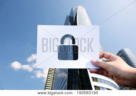 Network security system perforated paper padlock