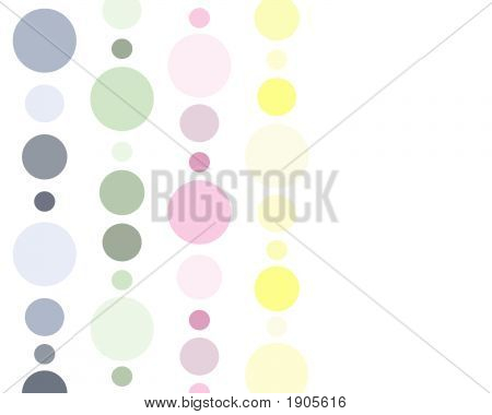 Pastel Polkadots Background
