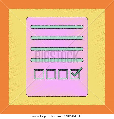 flat shading style icon of checklist questionnaire