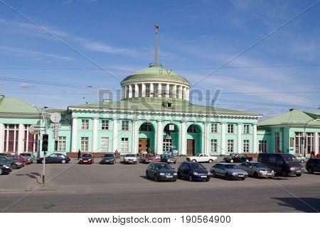 Murmansk, Russia - June 04, 2010: View of the railway station in Murmansk