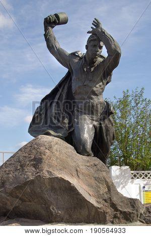 Murmansk, Russia - June 04, 2010: Murmansk Russia - June 04 2010: Monument to Anatoly Bredov