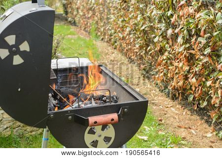 Fire is on the grill barbecue can start
