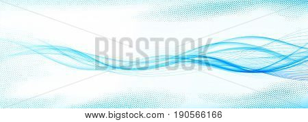 Speedy abstract futuristic modern bright swoosh wave lines layout. Elegant smooth Speed Blue Modern Dotted Stream Background. Futuristic blend Flow Curve. Vector illustration