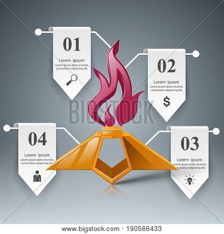 Eternal flame logo on the grey background