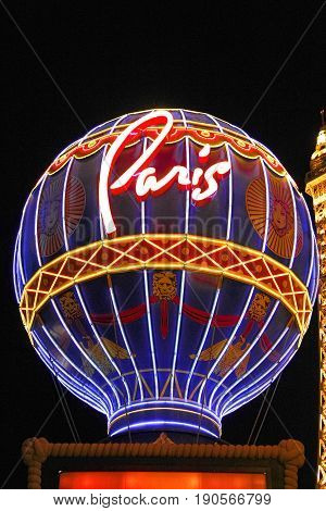 Paris Las Vegas hotel and casino on October 08, 2016 in Las Vegas. As its name suggests, its theme is the city of Paris in France; it includes a 5/8ths scale, (164.6 m) replica of the Eiffel Tower.