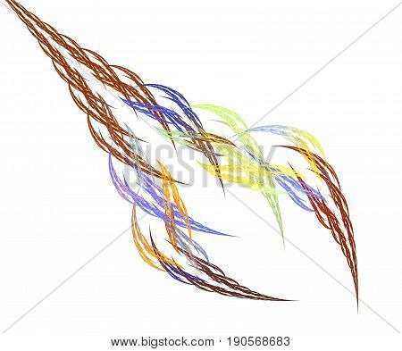 Fractal hair braid color abstraction of spikelets